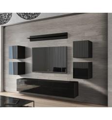 Ensemble meuble TV CONCEPT 41-41/HG/B/1-1B noir brillant 256 cm