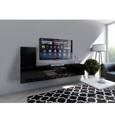 Ensemble meuble TV CONCEPT 43-43/HG/B/1-1B noir brillant 219 cm