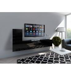 Ensemble meuble TV CONCEPT 43-43/HG/B/1-1A noir brillant 203 cm
