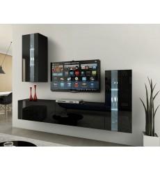 Ensemble meuble TV CONCEPT 47-47/HG/B/1-1A noir brillant 203 cm