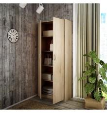Armoire à 2 portes pour bureau coloris chêne 180 x 74 cm BERGEN