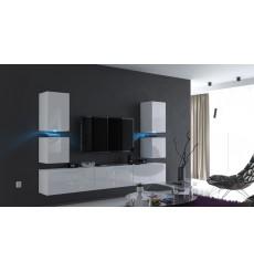 Ensemble meuble TV CONCEPT 75-75/HG/W/2-1A blanc brillant 249 cm