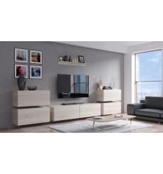 Ensemble meuble TV CONCEPT 78-78/HG/W/2 blanc brillant 352 cm
