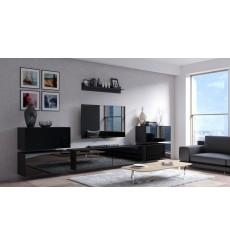 Ensemble meuble TV CONCEPT 78-78/HG/B/1 noir brillant 352 cm