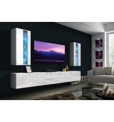 Ensemble meuble TV NEXT 20 AN20-18W-HG2-1A blanc brillant 249 cm