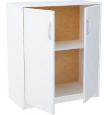 Petite armoire blanche 2 portes TROMSO 74x85 cm
