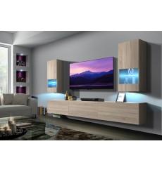 Ensemble meuble TV NEXT 21 AN21-18S-M3-1B sonoma 249 cm