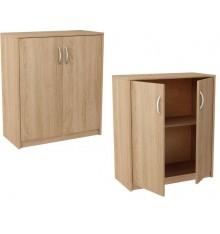 Petite armoire Chêne clair 2 portes TROMSO 74x85 cm