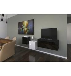 Ensemble meuble TV NEXT 263 AN263-17BW-HG22-1A noir/blanc brillant 191 cm