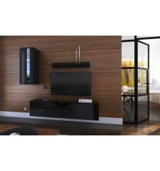 Ensemble meuble TV NEXT 271 AN271-17B-HG20-1A noir brillant 193 cm