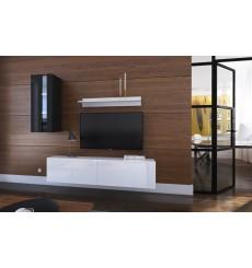 Ensemble meuble TV NEXT 271 AN271-17BW-HG23-1A noir/blanc brillant 193 cm