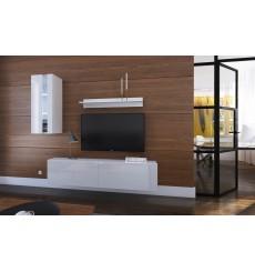 Ensemble meuble TV NEXT 271 AN271-17W-HG21-1A blanc/noir brillant 193 cm