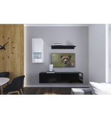 Ensemble meuble TV NEXT 272 AN272-17BW-HG23-1A noir/blanc brillant 193 cm