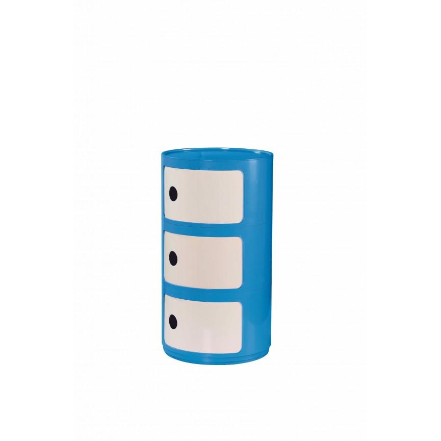 Caisson cylindrique 3 rangements 34 x 31 cm
