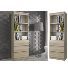 Bibliothèque étagère de bureau RENO  60x180 cm chêne
