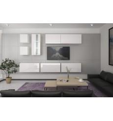 Ensemble meuble TV NEXT 280 AN280-17W-HG21-1A blanc brillant 260 cm