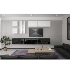 Ensemble meuble TV NEXT 280 AN280-17BW-HG23-1B noir/blanc brillant 284 cm