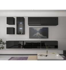 Ensemble meuble TV NEXT 280 AN280-17B-HG20-1B noir brillant 284 cm
