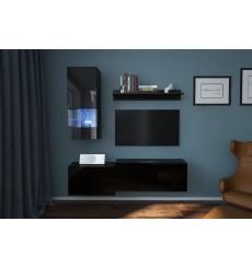 Ensemble meuble TV NEXT 290 AN290-17B-HG20-1B noir brillant 174 cm