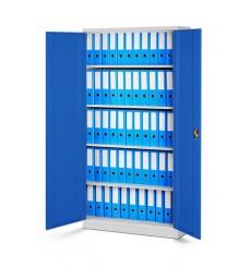 Armoire de rangement en métal NOVAK bleu