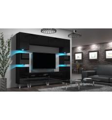 Ensemble meuble TV NEXT 35 AN35-18B-HG1-1A noir brillant 240 cm