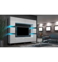 Ensemble meuble TV NEXT 35 AN35-18W-HG2-1A blanc brillant 240 cm