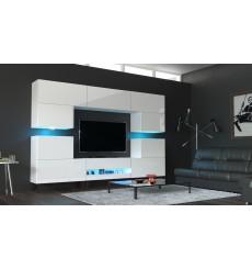 Ensemble meuble TV NEXT 37 AN37-18HG-W2 blanc brillant 257 cm