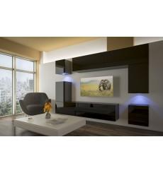 Ensemble meuble TV NEXT 5 AN5-17B-HG20-1B noir brillant 256 cm