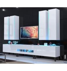 Ensemble meuble TV NEXT 52 AN52-18W-HG2 blanc brillant 273 cm