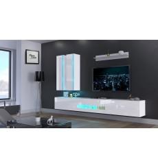 Ensemble meuble TV NEXT 55 AN55-18W-HG2 blanc brillant 273 cm