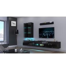 Ensemble meuble TV NEXT 56 AN56-18B-HG1 noir brillant 273 cm