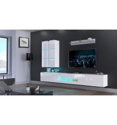 Ensemble meuble TV NEXT 56 AN56-18W-HG2 blanc brillant 273 cm