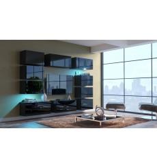 Ensemble meuble TV NEXT 62 AN62-18B-HG1 noir brillant 256 cm