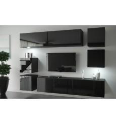 Ensemble meuble TV NEXT 65 AN65-HG-B1 noir brillant 218 cm