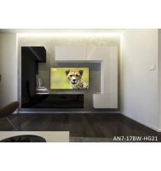 Ensemble meuble TV NEXT 7 AN7-17BW-HG21-1B noir/blanc brillant 272 cm