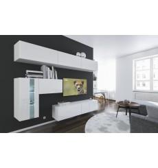 Ensemble meuble TV NEXT 81 AN81-17W-HG22-1A blanc brillant 249 cm