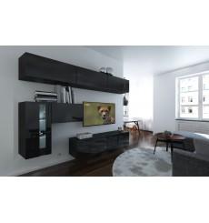 Ensemble meuble TV NEXT 81 AN81-17B-HG20-1A noir brillant 249 cm