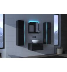 Meuble salle de bain ALIUS 1 - A1-HG-B-1 noir brillant