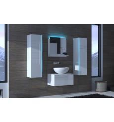 Meuble salle de bain ALIUS 1 - A1-HG-W-2 blanc brillant