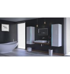 Meuble salle de bain ALIUS 10 - A10-HG-W-2 blanc brillant