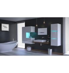 Meuble salle de bain ALIUS 48 - A48-HG-W-2 blanc brillant