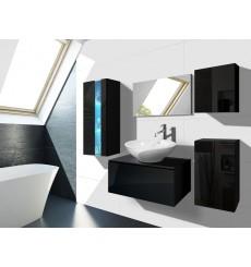 Meuble salle de bain ALIUS 35 - A35-HG-B-1 noir brillant