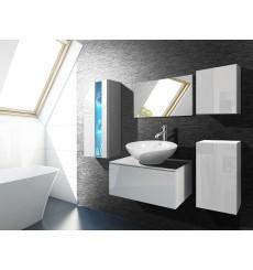 Meuble salle de bain ALIUS 35 - A35-HG-W-2 blanc brillant