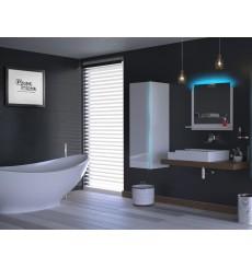 Meuble salle de bain ALIUS 9 - A9-HG-W-2 blanc brillant