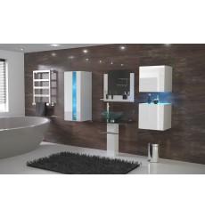 Meuble salle de bain ALIUS 33 - A33-HG-W-2 blanc brillant