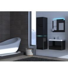 Meuble salle de bain ALIUS 32 - A32-HG-B-1 noir brillant