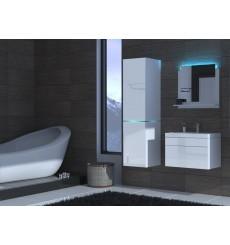 Meuble salle de bain ALIUS 32 - A32-HG-W-2 blanc brillant