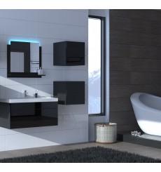 Meuble salle de bain ALIUS 28 - A28-HG-B-1 noir brillant