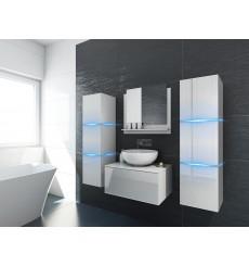 Meuble salle de bain ALIUS 3 - A3-HG-W-2 blanc brillant