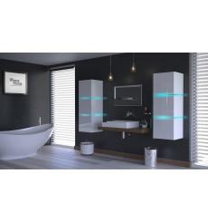Meuble salle de bain ALIUS 14 - A14-HG-W-2 blanc brillant